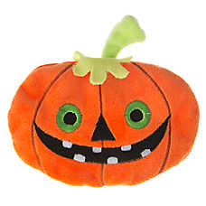 Thrills & Chills™ Pet Halloween Flattie Happy Pumpkin Dog Toy