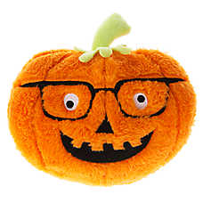 Thrills & Chills™ Pet Halloween Pumpkin with Glasses Dog Toy