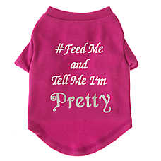 "Grreat Choice® ""Feed Me & Tell Me I'm Pretty"" Dog T-Shirt"