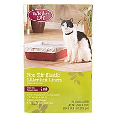 Whisker City® Jumbo Non-Slip Elastic Litter Pan Liners