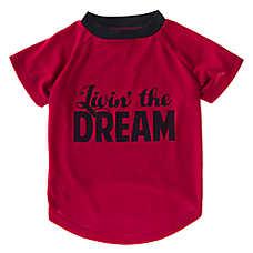 """Grreat Choice® """"Livin'The Dream"""" Dog T-Shirt"""