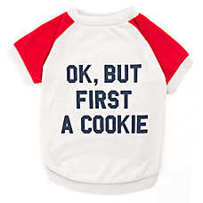 "Grreat Choice®  ""OK, But First A Cookie"" Dog Tee"