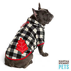 Martha Stewart Pets® Black Buffalo Checker Into the Wood Coat