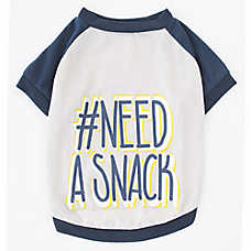 Top Paw® #NEED A SNACK Dog Tee