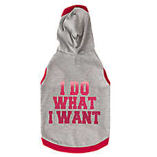 "Grreat Choice® ""I Do What I Want"" Dog Hoodie"