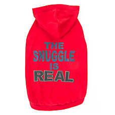"Top Paw® ""The Snuggle is Real"" Dog Hoodie"