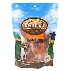 Dentley's® Nature's Chews Ham Skin Chips Medium Dog Treat - Natural