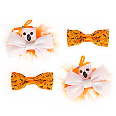 Thrills & Chills™ Pet Halloween Ghost Hair Bows