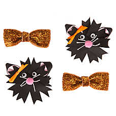 Thrills & Chills™ Pet Halloween Black Cat Hair Bows