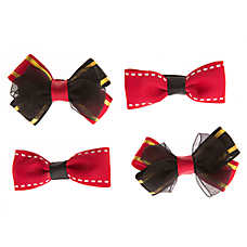 Grreat Choice® Black Red Gold Hair Bows