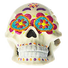 Top Fin® Pet Halloween Day Of The Dead Skull Aquarium Ornament