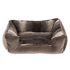 Top Paw® Faux Fur Rectangle Cuddler Dog Bed