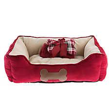 Top Paw® Gift Set Cuddler Dog Bed