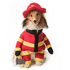 Thrills & Chills™ Pet Halloween Stand Up Firefighter Pet Costume