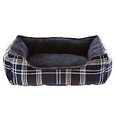 Grreat Choice® Plaid Cuddler Dog Bed