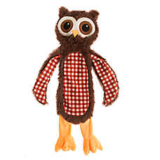 Top Paw® Flattie Owl Dog Toy