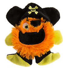 Thrills & Chills™ Pet Halloween Villains Flattie Pumpkin Pirate Dog Toy