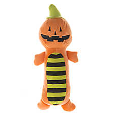 Thrills & Chills™ Pet Halloween Pumpkin Long Body Dog Toy