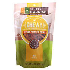 Simply Nourish™ Chewy Dog Treat - Grain & Gluten Free, Sweet Potato Fries