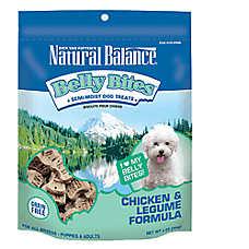 Natural Balance Belly Bites Dog Treat - Grain Free, Chicken & Legume