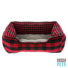Martha Stewart Pets® Buffalo Checker Cuddler Dog Bed