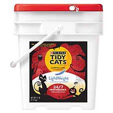Purina® TIDY CATS® Scary Pail LightWeight 24/7 Performance Cat Litter - Clumping, Mulitiple Cat