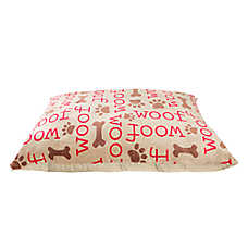 "Grreat Choice® ""Woof"" Pillow Dog Bed"
