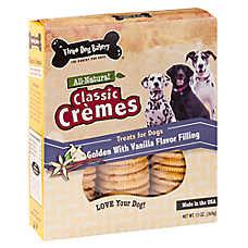Three Dog Bakery Classic Cremes Dog Treat - Natural, Vanilla