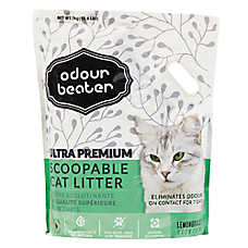 Odour Beater Ultra Premium Cat Litter - Scoopable, Lemongrass Scent