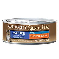 Authority® Grain Free Mature Cat Food - Chicken