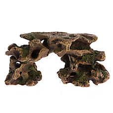 Top Fin® Brown Hole Rock Aquarium Ornament