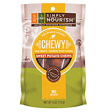 Simply Nourish™ Chewy Dog Treat - Grain & Gluten Free, Sweet Potato Chews