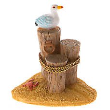 Top Fin® 3 Tier Post with Seagull Aquarium Ornament