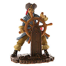 Top Fin® Pirate with Wheel Aquarium Ornament