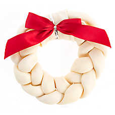 Pet Holiday™ Dentley's® Festive Rawhide Braided Wreath Dog Treat