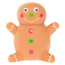 Pet Holiday™ Gingerbread Man Dog Toy