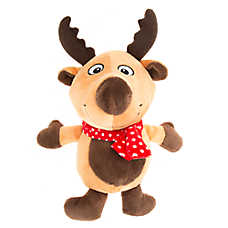 Pet Holiday™ Reindeer Plush Dog Toy