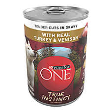 Purina ONE® Smartblend® True Instinct Adult Dog Food - Turkey & Venison, Gravy