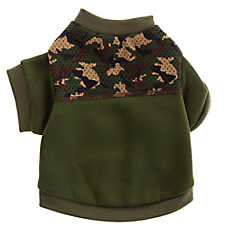 Top Paw® Camo Mesh Crew Dog Sweater