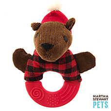 Martha Stewart Pets® Bear Teether Ring Dog Toy