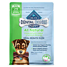BLUE™ Dental Bones Mini Puppy Treat - Natural
