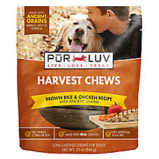 Pur Luv™ Harvest Chews Dog Treat - Brown Rice & Chicken