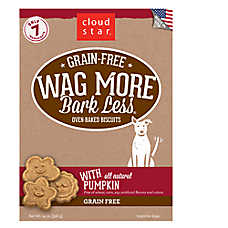 Cloud Star® Wag More Bark Less® Dog Treat - Natural, Grain Free, Pumpkin