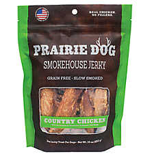 Prairie Dog Smokehouse Jerky Dog Treat - Natural, Grain Free, Country Chicken