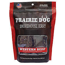 Prairie Dog Smokehouse Jerky Dog Treat - Natural, Grain Free, Western Beef