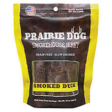 Prairie Dog Smokehouse Jerky Dog Treat - Natural, Grain Free, Smoked Duck