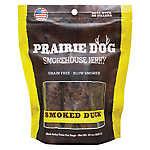 Prairie Dog Smokehouse Jerky Dog Treat - Natural, Grain Free, Smoked Duck
