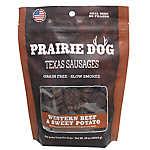 Prairie Dog Texas Sausages Dog Treat - Natural, Grain Free, Western Beef & Sweet Potato