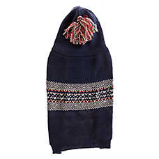 Top Paw® Fairisle Hood Dog Sweater