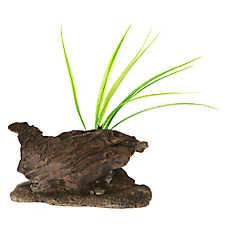 Top Fin® Wood Log with Plants Aquarium Ornament